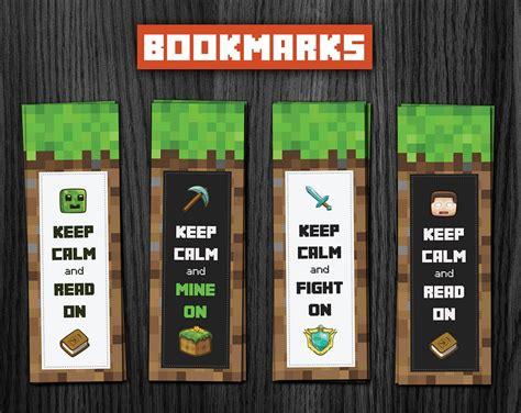 Minecraft Bookmark Template by Phorest Studio 187 Minecraft Bookmarks