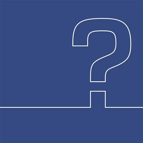 vector graphic question mark  icon blue