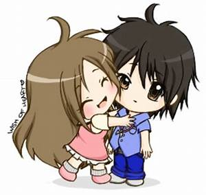 cute chibi couple hugging - image #2174249 by miss_dior on ...
