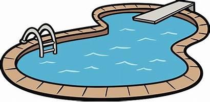 Swimming Pool Clipart Clip Water Slide Cartoon