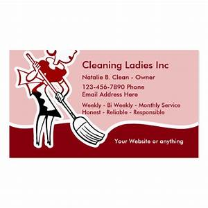 House Cleaning Maid Business Card | Zazzle