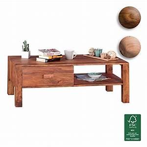 Tisch Mit Stauraum : finebuy couchtisch massivholz sheesham design wohnzimmer tisch 110 x 60 cm 1 schublade landhaus ~ Eleganceandgraceweddings.com Haus und Dekorationen