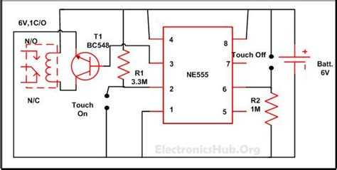 Touch Off Switch Circuit Diagram Working