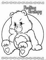 Coloring Care Bears Grumpy Coloring4free sketch template