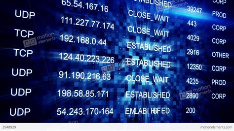Ip Address Seamless Loop Background Stock Animation