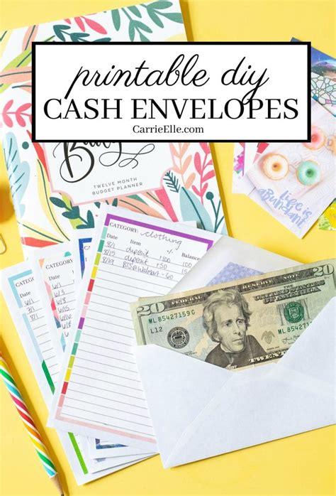 printable diy cash envelopes    super cute