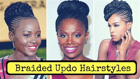 Braided Updo Hairstyles For Black Women (2018)
