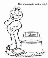 Potty Coloring Elmo Toilet Training Pages Toddler Street Sesame Preschool Printable Colouring Chart Baby Toilets Learning Games Sesamestreet Party Activities sketch template