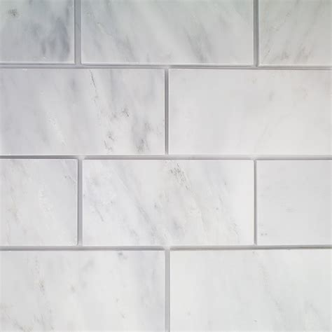 marble subway tile asian statuary 3x6 polished marble tile tilebar
