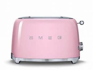 Smeg Küchenmaschine Zubehör : smeg tsf01pkeu 2 scheiben toaster cadillac pink f r 139 00 eur ~ Frokenaadalensverden.com Haus und Dekorationen