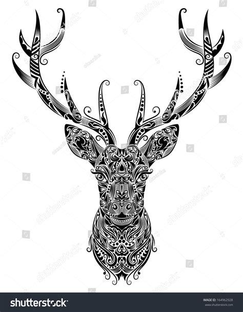 Pattern Shape Deer Stock Vector Shutterstock