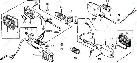 honda motorcycle 1983 oem parts diagram for turn signal partzilla