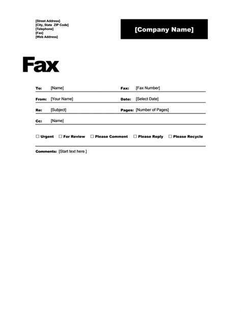 fax cover template  word   fax samples cart