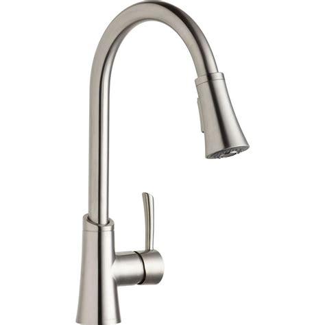 elkay gourmet single handle pull sprayer kitchen