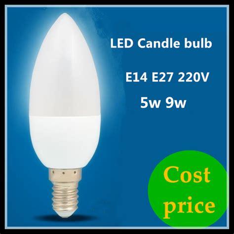 cost of led light bulbs cost price led candle l e14 e27 5w 9w 220v spotlight