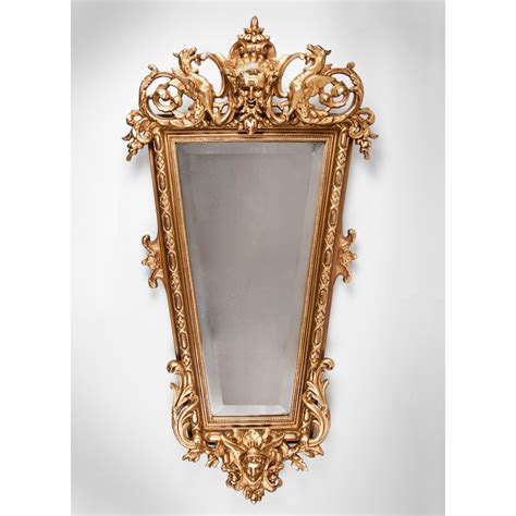 baroque mirror mid 19th c italian baroque giltwood carved mirror from piatik on ruby lane