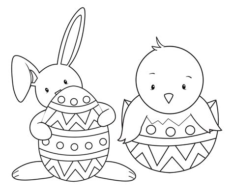 easter coloring pages  kids crazy  projects
