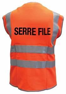Gilets De S U00e9curit U00e9 Fluo Avec Marquage Guide File Ou Serre