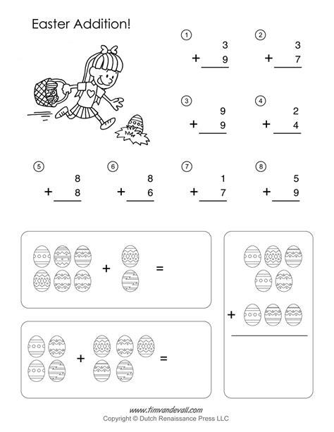 Easter Math Worksheets  Addition Worksheet Free Math Practice Worksheets Worksheet Mogenk
