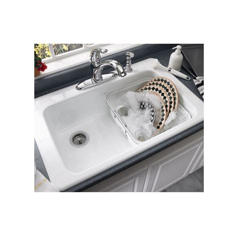 americast kitchen sinks faucet 7193 804 345 in bisque by american standard 1241