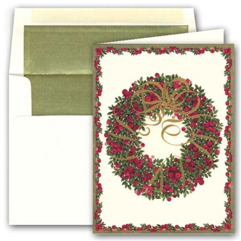 christmas ribbon wreath greeting cards paperstyle