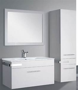 meuble salle de bain laque blanc With meuble de salle de bain laqué blanc