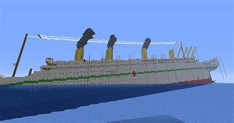 the sinking of the britannic minecraft h m h s britannic sinking карта