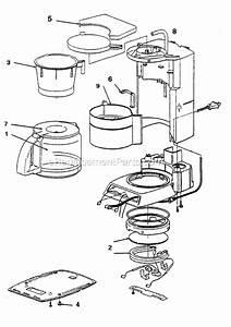 Mr  Coffee Pr16 Parts List And Diagram   Ereplacementparts Com