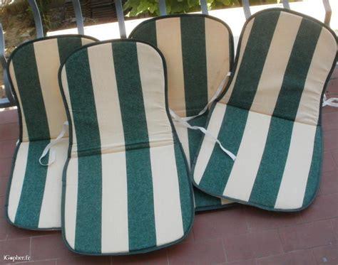 coussins pour chaises 4 coussins pour chaises de jardin igopher fr