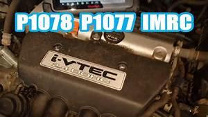Honda Cr  Diag  P1078 P1077 2006 2 4l
