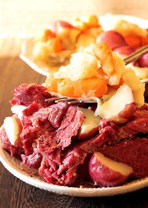 This recipe for instant pot corned beef and cabbage is ready to serve in less than 2 hours! Instant Pot Corned Beef and Cabbage - What's In The Pan?
