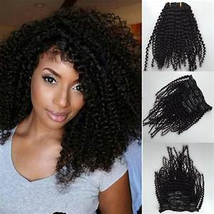 New Style Brazilian Virgin Curly Hair Weft Clip In Human