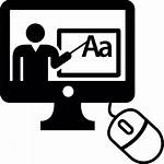 Internet Learning Computer Education Teacher Technology Icon