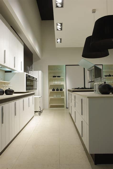 Kitchen Fantastic White Kitchen Galley Decoration With