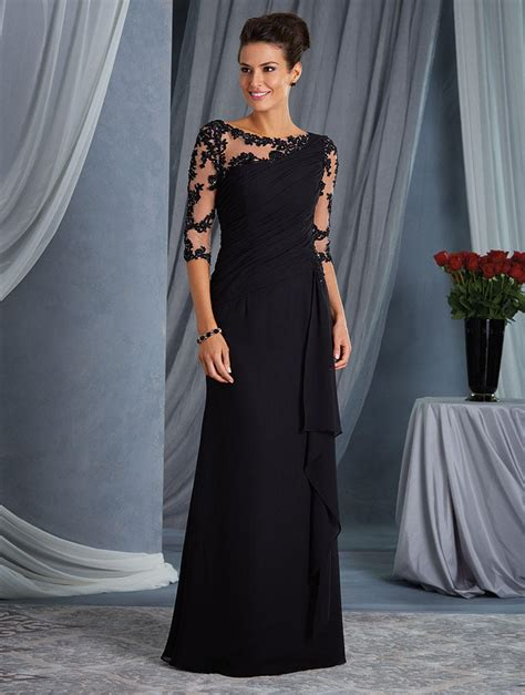 alfred angelo  sheer sleeve mothers gown french novelty
