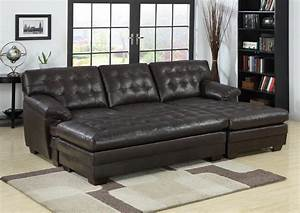 2 piece sectional sofa with chaise design homesfeed for Sectional sofa bed with chaise lounge
