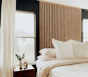 Bedroom, Refresh, Part, 2, Diy, Vertical, Wood, Slat, Wall
