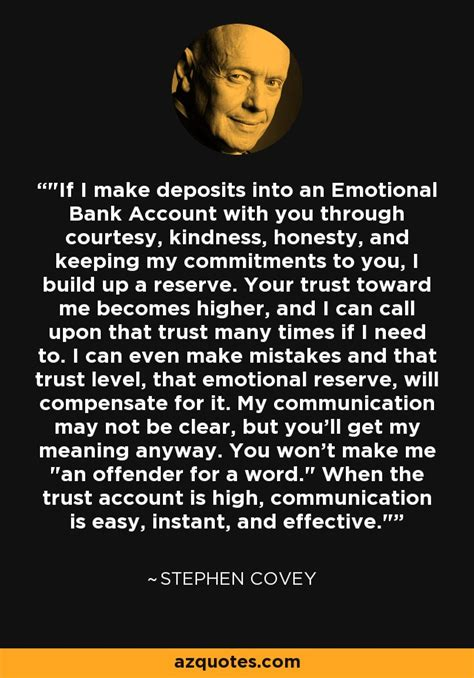 stephen covey quote    deposits   emotional