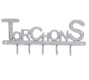 accroche torchons cuisine accroche torchons 5 crochets en aluminium brossé jardin d