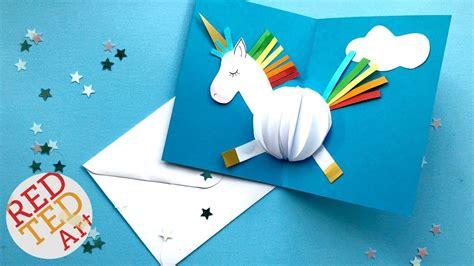 get well soon pop up card template pop up unicorn diy card easy card ideas ideas