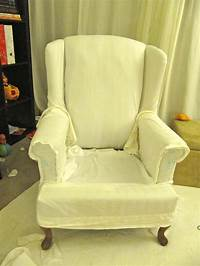 chair slip cover My Wing Chair Slipcover Reveal!