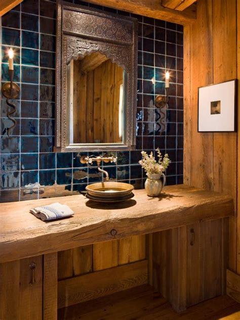 blue kitchen backsplash rustic wood countertop houzz 1728