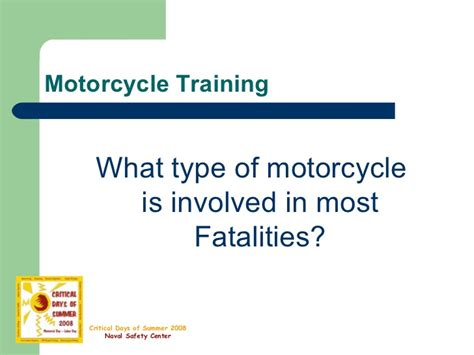 Motorcycle Safety-presentation