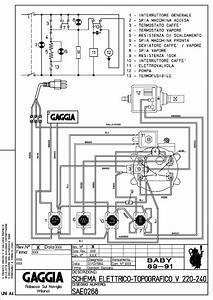 Gaggia Baby 89 91 V230 Service Manual Download  Schematics