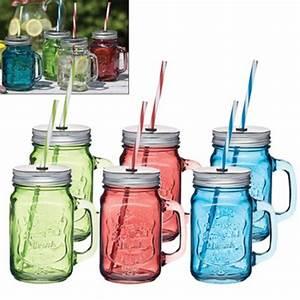 Verre A Paille : verre mason jar avec paille 450ml kitchen craft kookit ~ Teatrodelosmanantiales.com Idées de Décoration