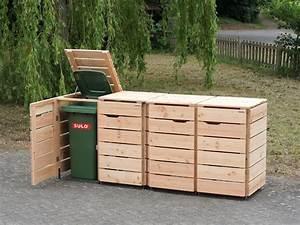 Mülltonnenbox Holz Anthrazit : 4er m lltonnenbox 120 liter heimisches holz made in ~ Whattoseeinmadrid.com Haus und Dekorationen