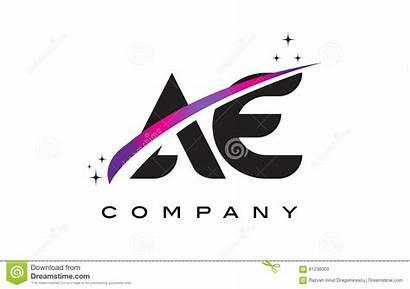 Ac Ae Ag Letter Swoosh Purple Magenta