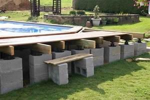 piscine hors sol bois semi enterr Recherche Google Projets à essayer Pinterest Ground