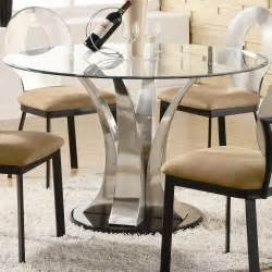 HD wallpapers round dining table with glass top chrome base