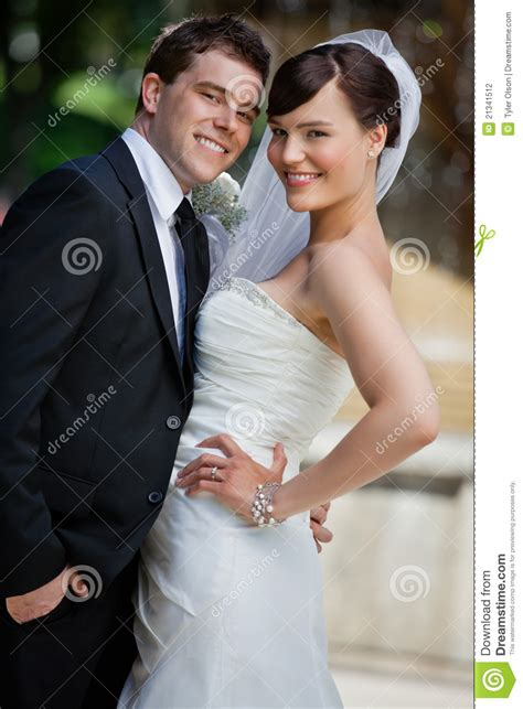 cute young married couple stock photography image